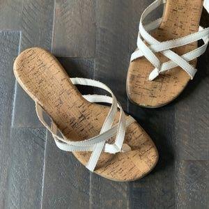 Aerosoles White Strappy Sandal